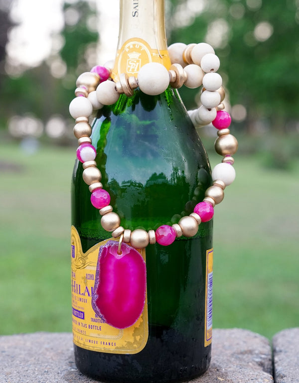 Fuchsia Agate Necklace
