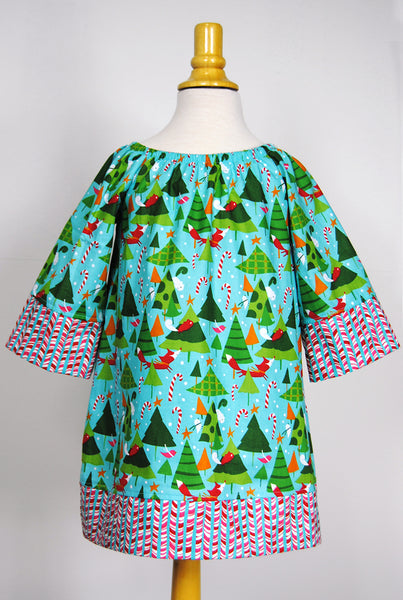 Girls' Haley Dress in Forest Friends Christmas