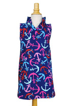 Girls' Parker Dress in Anchors