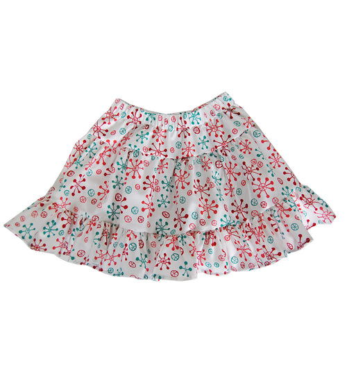 Girls' Sutton Skirt in Christmas Starburst
