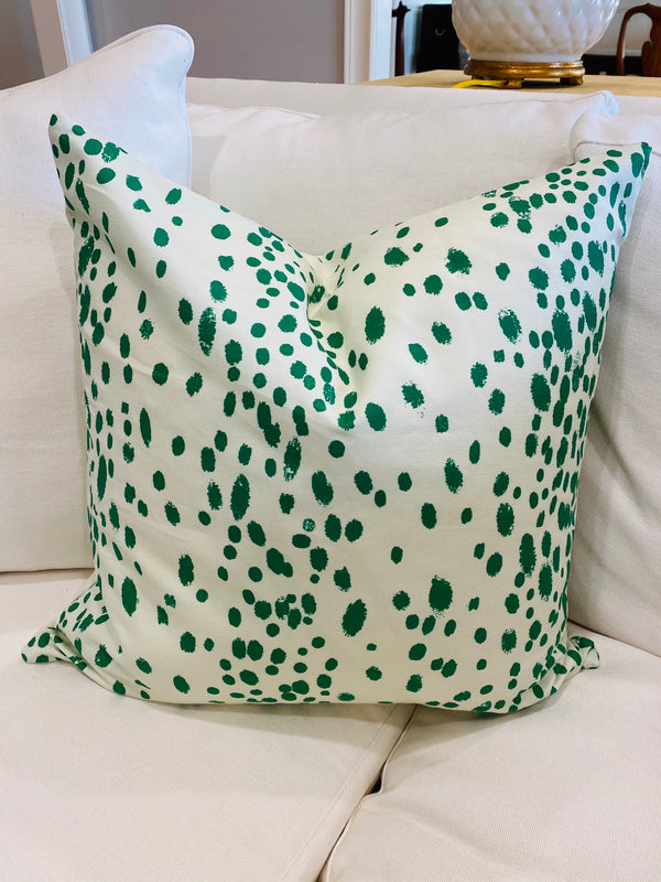 Velvet Pillow Cover-Christmas Dots