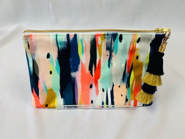 Velvet Tassel Clutch in Illumination