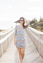 Julia Dress in Blue Floral