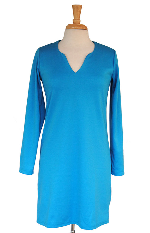 Julia Dress in Carib Blue