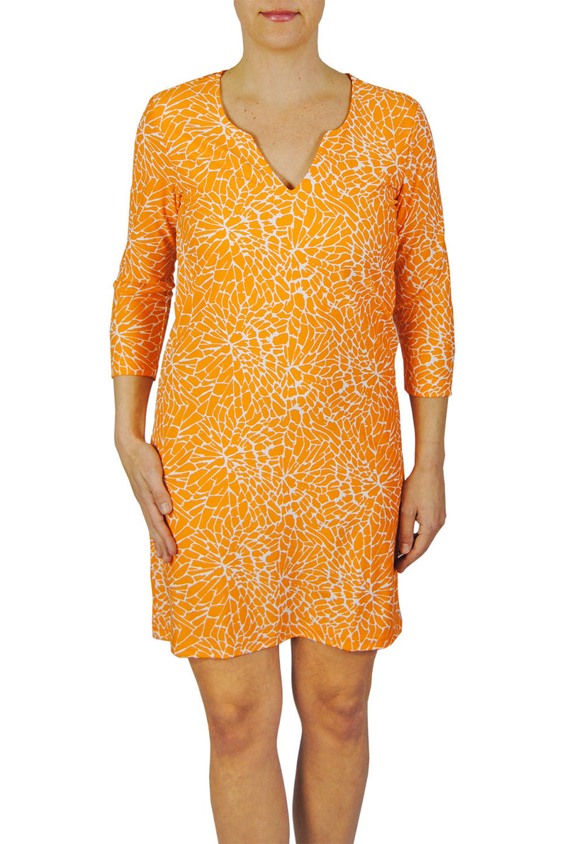 Julia Dress in EBI Orange Floral