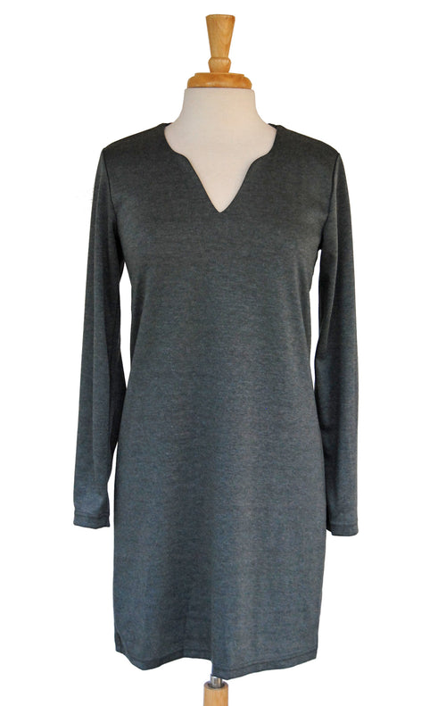 Julia Dress in Heather Grey