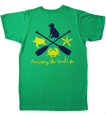 Lab Paddle T-Shirt in Grass Green