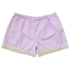 Liza Shorts in Pink Seersucker