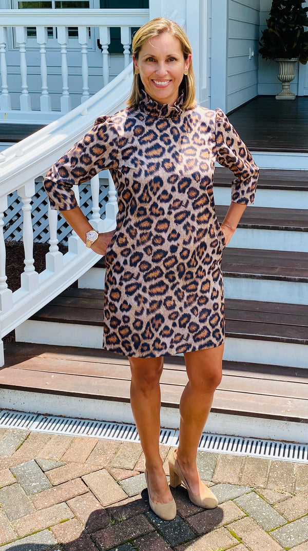 Macon Dress-Leopard