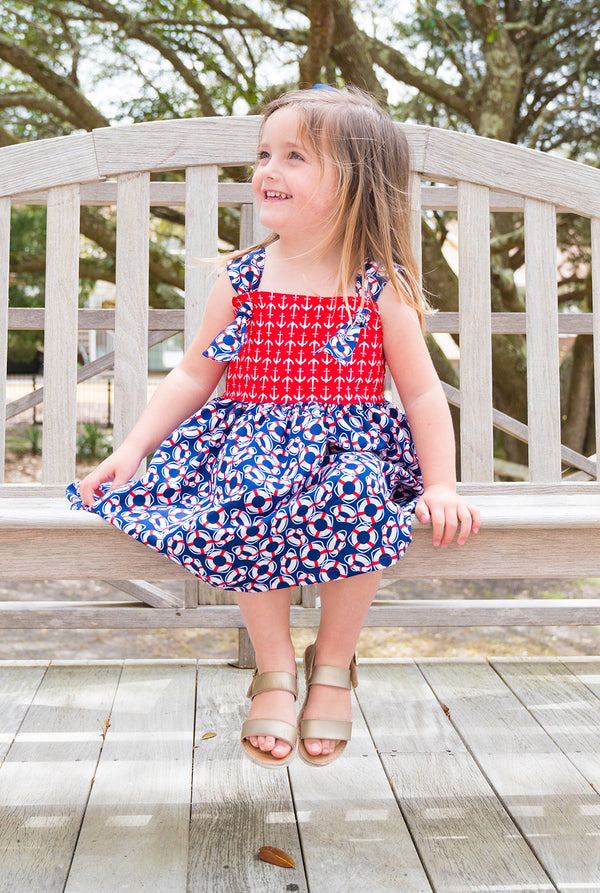 Girls' Natalie Dress in Buoys