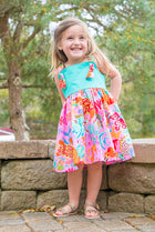Girls' Natalie Dress in Scuba