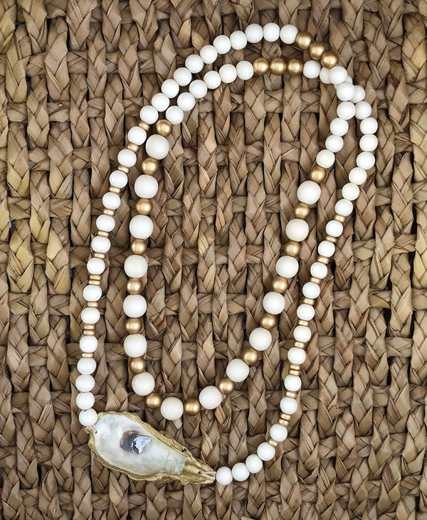 Beaufort Oyster Wrap Necklace