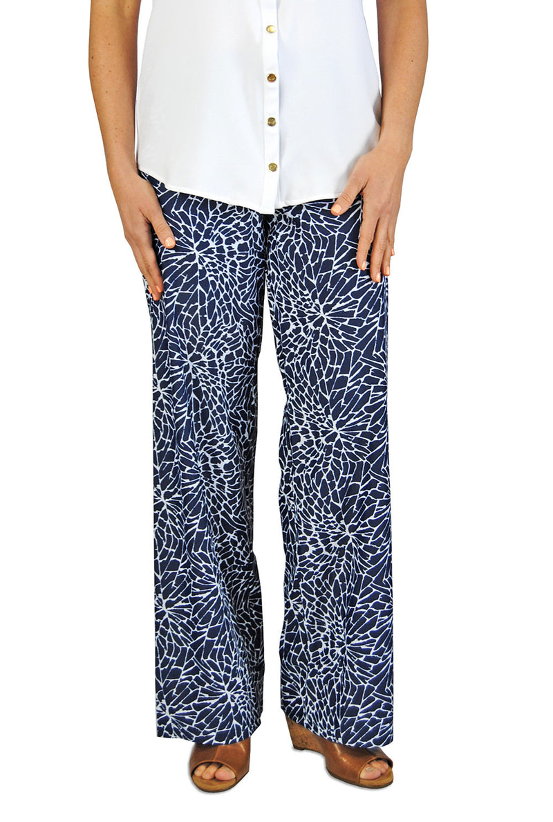 Palazzo Pant in EBI Blue Floral