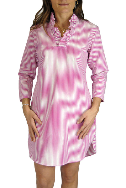 Parker Dress in Hot Pink Stripe