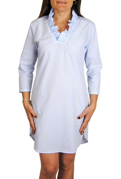 Parker Dress in Light Blue Stripe