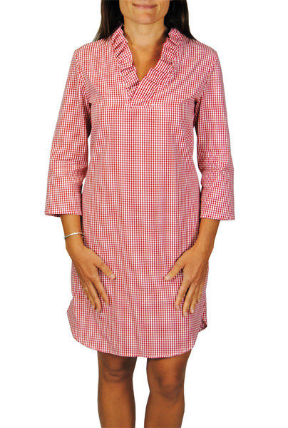 Parker Dress in Red Gingham
