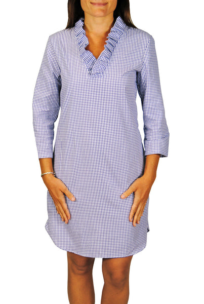 Parker Dress in Royal Blue Gingham