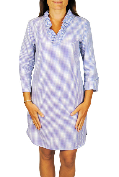 Parker Dress in Sky Blue Gingham