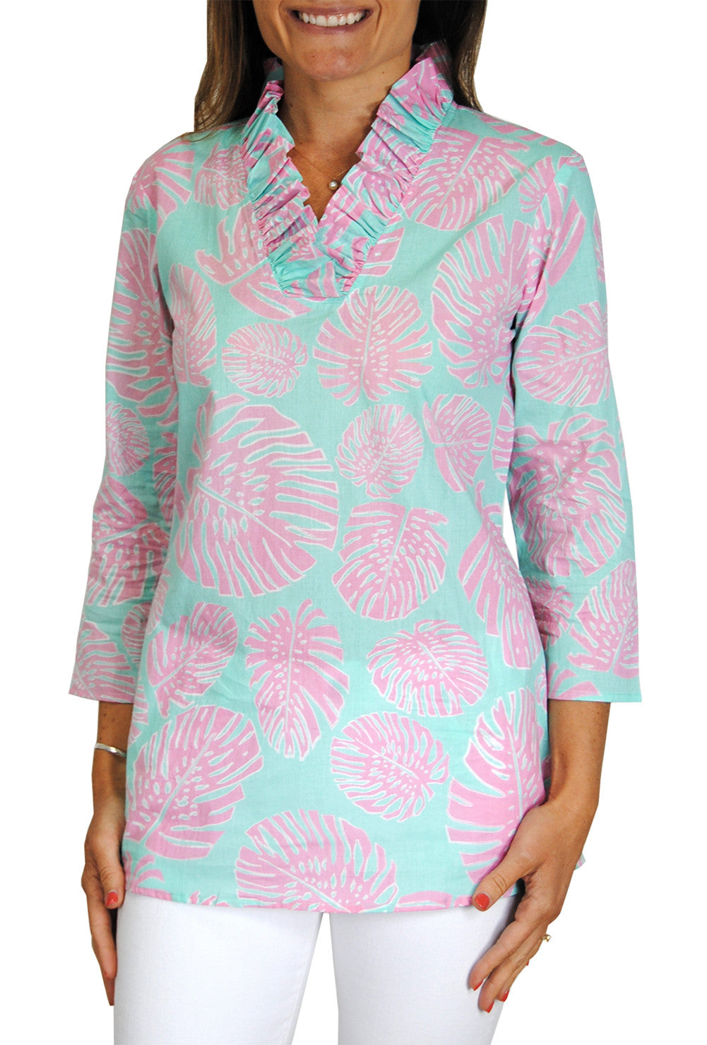 Parker Cotton Tunic in Banana Leaf (see more colors)