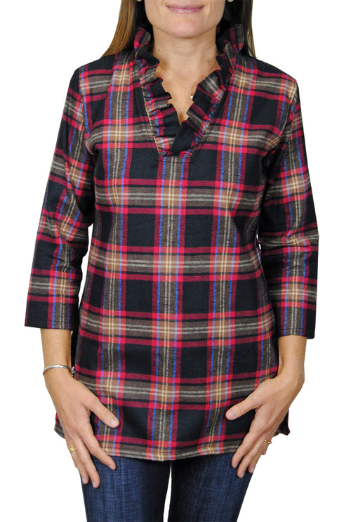 Parker Tunic in Black Flannel