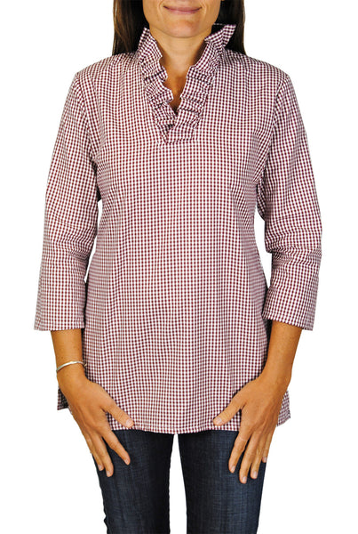 Parker Tunic in Crimson Gingham