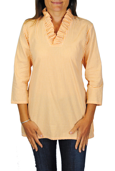 Parker Tunic in Orange Gingham