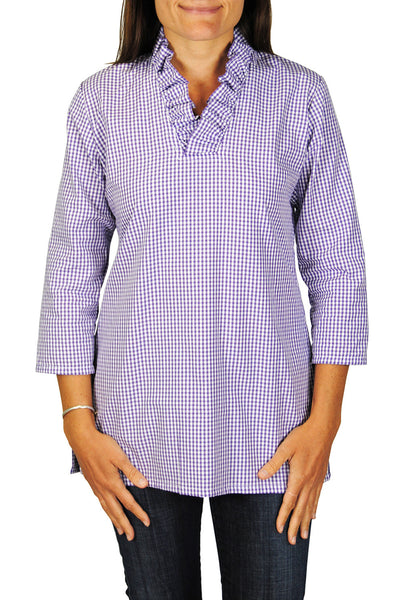 Parker Tunic in Purple Gingham