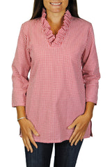 Parker Tunic in Red Gingham