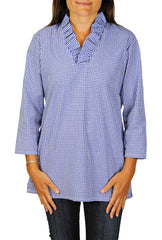 Parker Tunic in Royal Blue Gingham