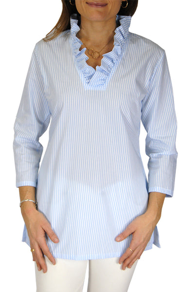Parker Tunic in Light Blue Stripes