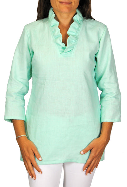 Parker Tunic in Mint Linen