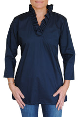 Parker Tunic in Navy Broadcloth