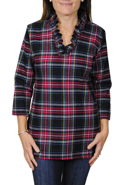 Parker Tunic in Navy Flannel