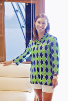 Parker Tunic in Navy Medallions