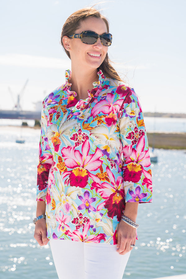 Parker Tunic in Orchids