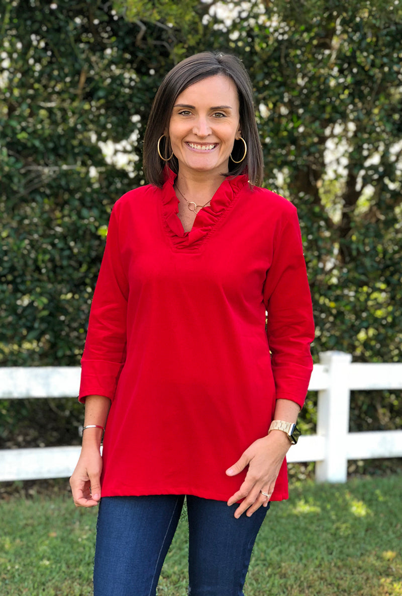 Parker Tunic in Red Corduroy