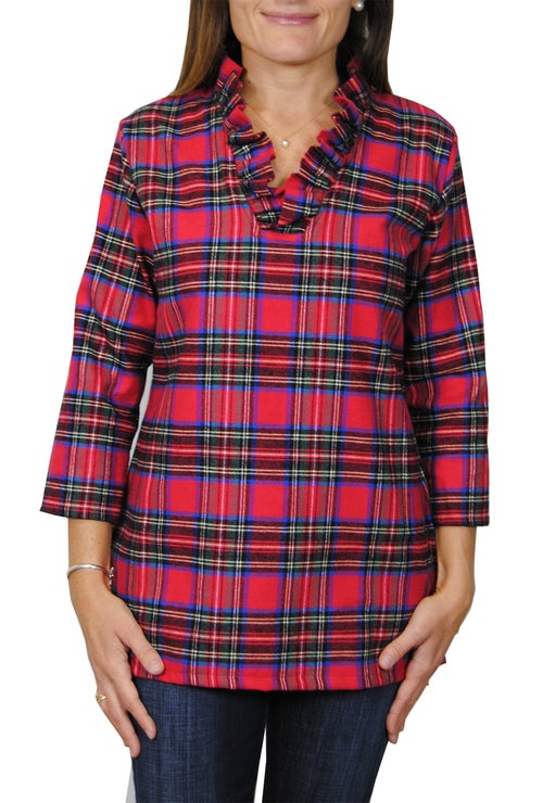Parker Tunic in Red Flannel