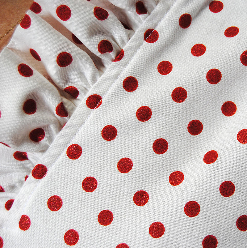 Parker Tunic in Red Glitter Dot