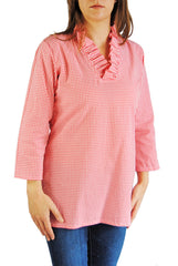 Parker Tunic in Watermelon Gingham