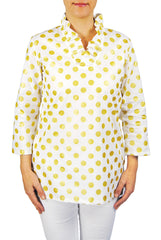 Parker Tunic in White Metallic Dot