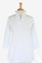 Parker Tunic in White Broadcloth
