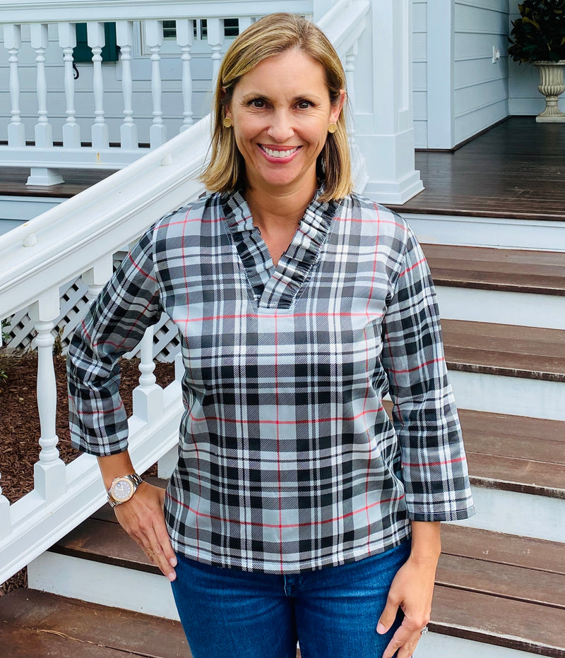 Parker Tunic-Gray Plaid