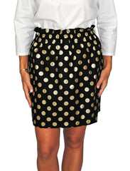Patty Skirt in Black Metallic Dot