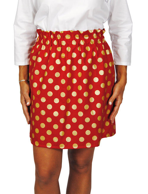 Patty Skirt in Red Metallic Dot