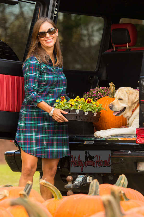 Popover Dress in Flannel Plaid