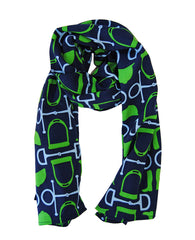 Scarf in Navy Equestrain