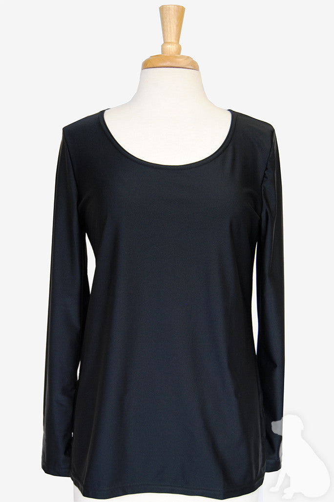 Scoopneck Tunic in Black