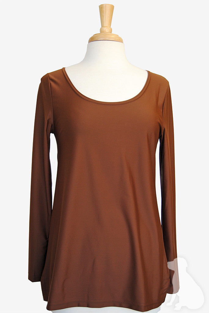 Scoopneck Tunic in Chocolate