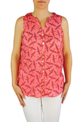 Sleeveless Stella in Pink Dragonflies