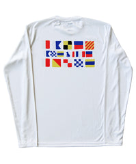 SPF T-shirt in Nautical Flags